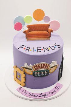 Friends Birthday Cake, Friends Cake, Cute Birthday Cakes, Friends Tv, Cake Tv Show, Drop Cake, Elegant Birthday Cakes, Number Cakes, Birthday Cake Decorating