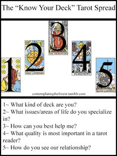 Call me Elenwë — I get a lot of asks from new tarot users, so I...