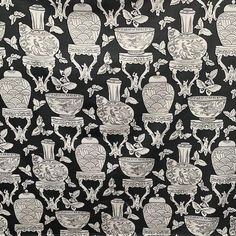 Ginger Jar Silhouette – Little and Fox Design - Fabric Curtains and Upholstery
