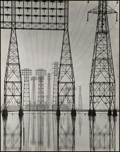 thegetty: Just like the Los Angeles landscape, the special exhibitions pavilion rapidly changes. The last day to see Overdrive: L.A. Constructs the Future 1940-1990 is this Sunday, July 21. Electrical Transmission Towers, about 1935, Will Connell. Gelatin silver print. Stephen White, Collection II, © Will Connell.