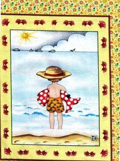 Mary Engelbreit beach -