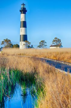 Bodie Island Lighthouse OBX Cape Hatteras North Carolina by digidreamgrafix