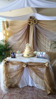 Decoración de aniversario de boda 50