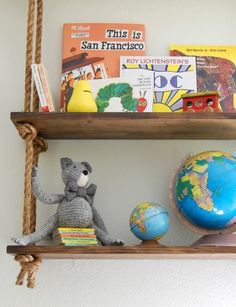 Cozy, Creative Ways To Display Books in The Nursery