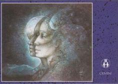 Susan Seddon Boulet Zodiac Sign Postcards -Gemini