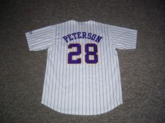 Adrian Peterson Minnesota Vikings NFL Reebok Baseball Style Jersey-Medium (EUC) #MinnesotaVikings