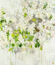 Those Blossoms You Gave So Freely 4, 2014, acrylic on canvas, 178 x 152 cm (Sold)