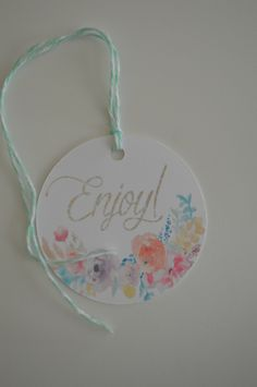 Enjoy Gift Tags - Everyday Tags - The Floral Collection Gift Tags - Set of 12 by HeathersPartySpot on Etsy https://www.etsy.com/listing/473230519/enjoy-gift-tags-everyday-tags-the-floral