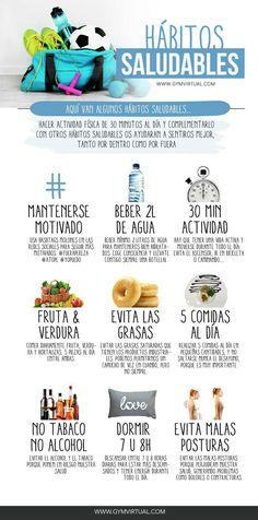Hábitos saludables #infografía