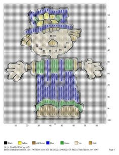 SILLY SCARECROW by JODY -- WALL HANGING 2/2