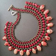 Check out this item in my Etsy shop https://www.etsy.com/listing/228817131/coral-necklace-gemstones-necklace-red