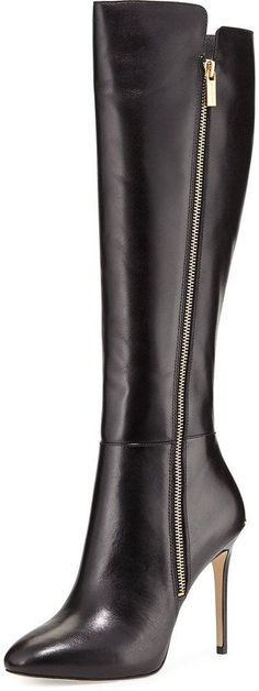 MICHAEL Michael Kors Clara Leather Knee Boot, Black