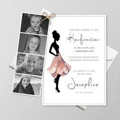 Konfirmationsinvitationer - Få designet din egen skabelon - Se her 3d Cards, Diy Invitations, Signs, Creative Business, Diy And Crafts, Diy Projects, Sketches, Inspiration, Birthday
