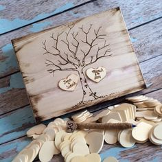 Rustic wedding guest book Etsy Fallen Star Couture Inc