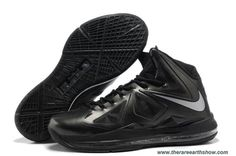 Anthracite Black Silver Style 541100-001 Nike Lebron X (10) Online