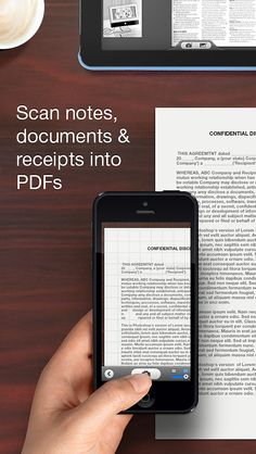 #Scanner Pro transforms your #iPhone and iPad into portable scanners. It allows you to scan receipts, #whiteboards, paper notes, or any multipage document.