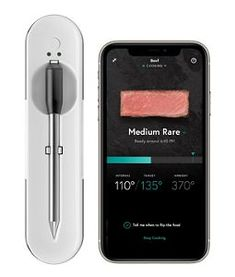 White Yummly® Smart Bluetooth Meat Thermometer YTE000W5KW | KitchenAid