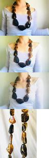 Necklaces and Pendants 98481: Huge Amber Bead Necklace. Nugget. Mexican Amber. Dramatic And Gorgeous! -> BUY IT NOW ONLY: $420 on eBay!