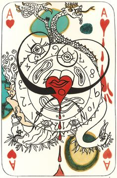 "Salvador Dali ""Playing Cards"". Published by Reese Palley, New York, 1970. Sold by Roseberys London www.roseberys.co.uk #salvadordali"