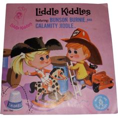 "Mattel Liddle Kiddles ""Bunson Burnie & Calamity Jiddle"" Original Comic Booklet!"
