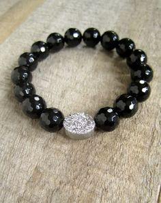 Silver Druzy Bracelet Druzy Quartz Jewelry Drusy by julianneblumlo