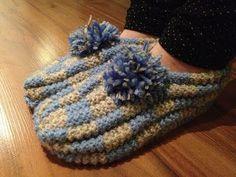 Arkimamman Arkiralli: Eila-mummun tossut Arne And Carlos, Eilat, Diy And Crafts, Knit Crochet, Crochet Patterns, Winter Hats, Beanie, Socks, Knitting