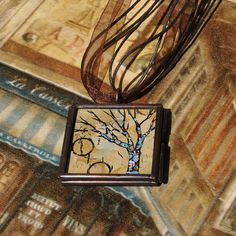 Holiday SALE 25% - Original Wearables - Tree of Life Pendant - Necklace - Painting - Handpainted Jewelry - Original Dana Marie Wearable Art