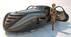 The exotic 1939 Duesenberg Coupe Simone Midnight Ghost. It was built by American car designer Emmet-Armand for French cosmetics mogul Gui De LaRouche. The fate of the car remains a mystery although it was probably destroyed during WWII. Sexy Cars, Hot Cars, Moto Design, Art Deco Car, Weird Cars, Futuristic Cars, Unique Cars, Amazing Cars, Custom Cars