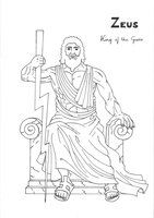Zeus Coloring Page Greek God Mythology Unit Study By LilaTelrunya