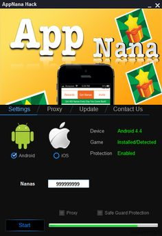 Today we provide you a new creation of us, this AppNana Hack Tool was not an easy task for our team but we did it.Our specialists have devoted a lot of time