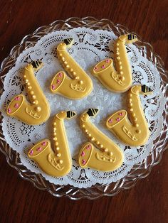 Saxophones by Kelley Hart Custom Cookies
