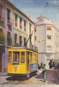 Granada. Tranvía 8 en San Antón con Alhamar