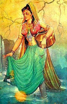 Indian Women Painting, Indian Art Paintings, Indian Artist, Canvas Paintings, Abstract Paintings, Painting Of Girl, Sketch Painting, Saree Painting Designs, Rajasthani Painting