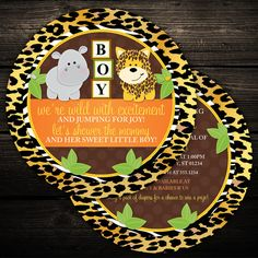 Set of 20  CIRCLE CUT  Wildy Adorable Animal by LittleBeesGraphics, $36.00