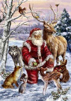 69 Ideas for vintage christmas images art deco winter scenes