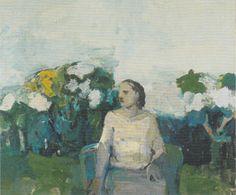 Elmer Bischoff Seated Figure in Garden 1958