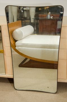 1stdibs.com | Italian Modernist 1950's Brass Framed Mirror