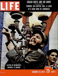 Castro life magazine 1959 covers   life cover fidel castro enters havana 1959 life magazine cover jan 19 ...