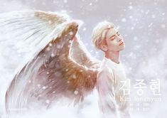 "#jonghyun #restinpeace #RIP 18/12/2017 ""A star who has been shining for many years will continue to shine up in the sky"""