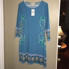 new with tags MICHAEL Michael Kors dress new with tags MICHAEL Michael Kors dress. BlueJay color. Size 8/ tags attached. 3/4 sleeve. Fast shipping. Price firm. MICHAEL Michael Kors Dresses