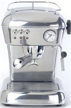 The Ascaso Dream is known for its great looks and fantastic features.  The machine features a 3 way solenoid valve, an adjustable over pressure valve and it comes with an aluminum tamper instead of the standard bakelite and it comes in one of 14 colours.