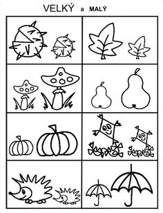 Pro Šíšu: Pracovní listy - Podzim Kindergarten Crafts, Preschool Math, Owl Name Tags, Diy For Kids, Crafts For Kids, Autumn Activities For Kids, Math Worksheets, Free Coloring Pages, Pre School