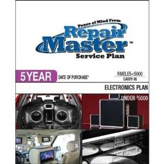 Repair Master 5-Yr Date of Purchase Electronics Plan - Under .... $172.52. Under $5000This Plan provides carry-in service and is designed for Home Car and Marine Audio/Video Photography E-Reader and Computer peripheral products used in a residential single-family household