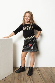 Leather Skirt, Girl Outfits, Punk, Skirts, Clothes, Fashion, Blouses, Tricot, Baby Clothes Girl