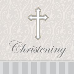 3 Ply Lunch Napkins Christening Devotion/Case of 192