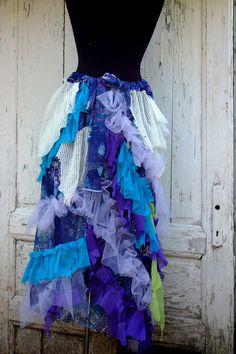 Skirt mermaid skirt shabby chic mori girl layers and by radusport