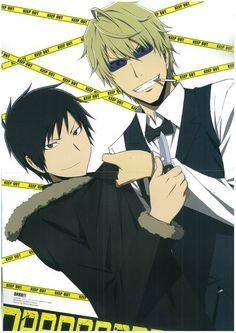 Izaya and Shizuo.