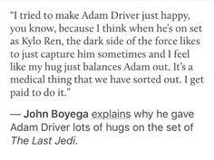 John Boyega must be protected << ALL OF OUR PRECIOUS STAR WARS CHILDREN MUST BE PROTECTED!