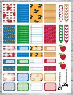 FREE Back to School Planner Stickers | ninjamomdesigns.com
