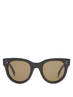f7ce9a0b4b Celine Eva CL 41399 807 Black Cat-Eye Plastic Sunglasses (840 AED ...